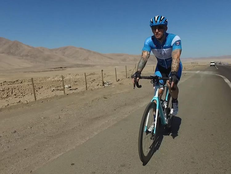 Dean Stott is cycling the Pan American Highway to raise money for Harry's mental health charity