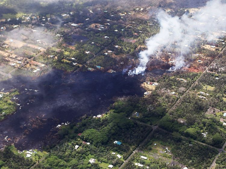 The Leilani estates neighbourhood has been worst affected by the eruption