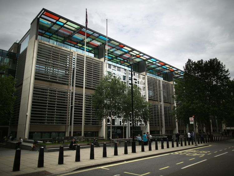 The drugs were found in the Home Office headquarters at 2 Marsham Street