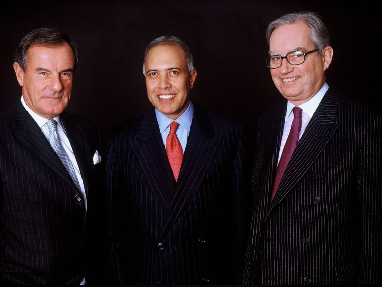 Former Vodafone Chairman Ian MacLaurin and former CEOs Arun Sarin and Sir Christopher Gent