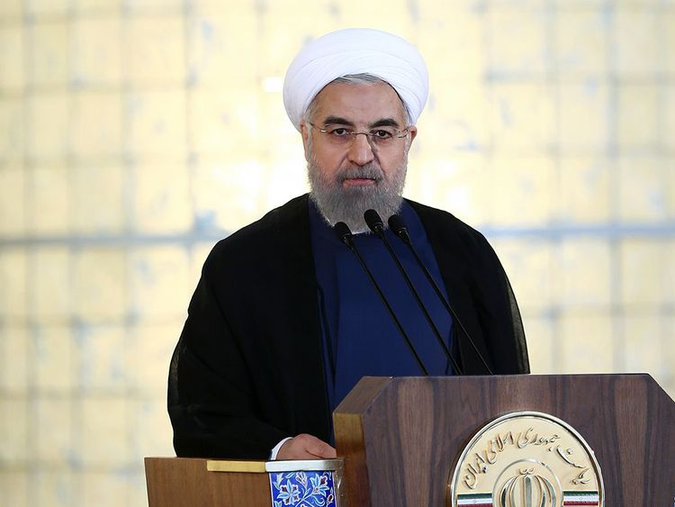 "Iranian President Hassan Rouhani told a live televised address in 2015 that ""all our objectives"" have been met by a nuclear deal agreed with world powers"