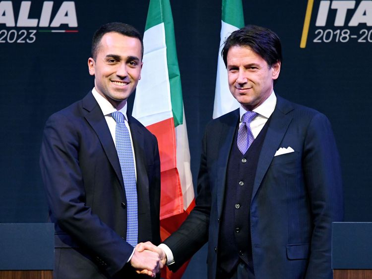 Luigi Di Maio appointed Mr Conte as a future minister