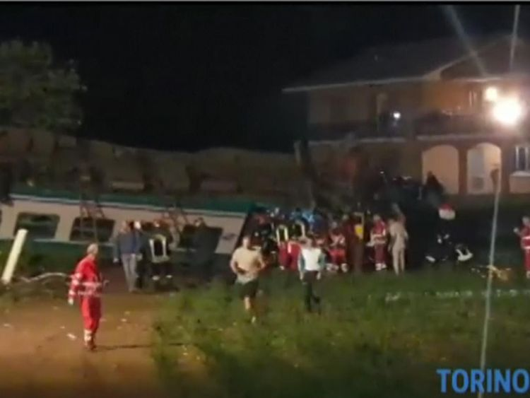 The crash took place near the city of Turin