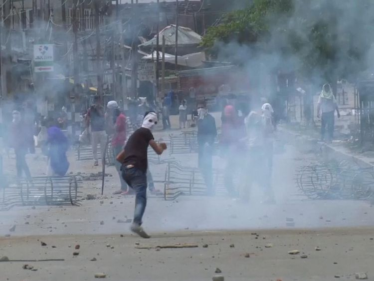 Government forces opened fire to break up protests