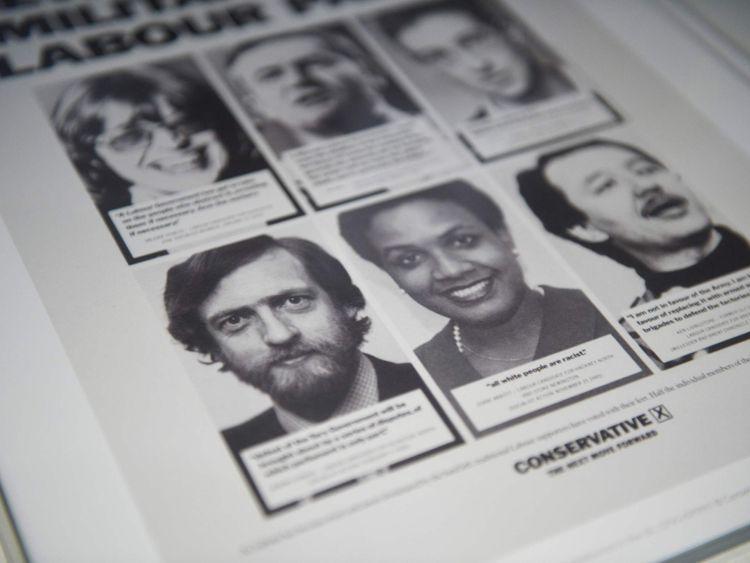 Old photos of Jeremy Corbyn, Diane Abbott Ken Livingstone on a Tory leaflet