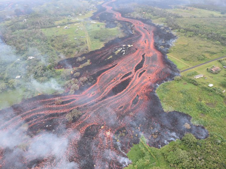 Lava rivers have carved their way through Hawaii's landscape