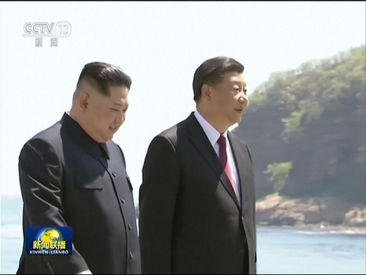 Kim Jong Un meets Xi Jinping