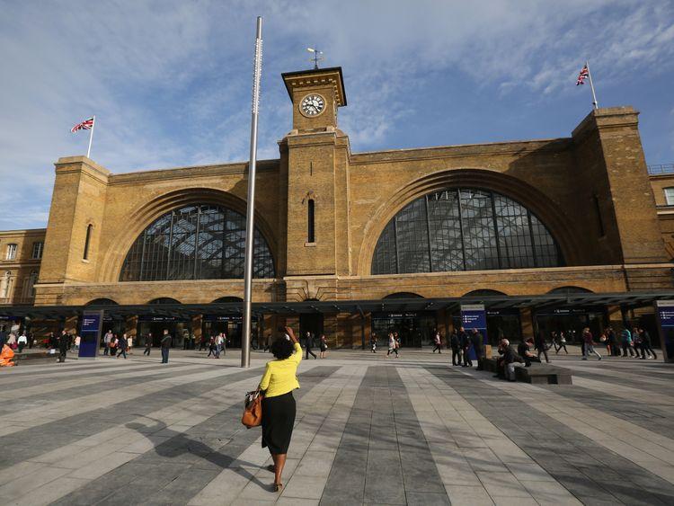 at Kings Cross Station on September 26, 2013 in London, England.
