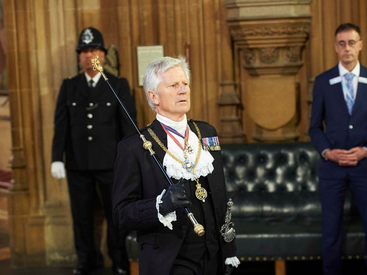 David Leakey was the Black Rod for seven years