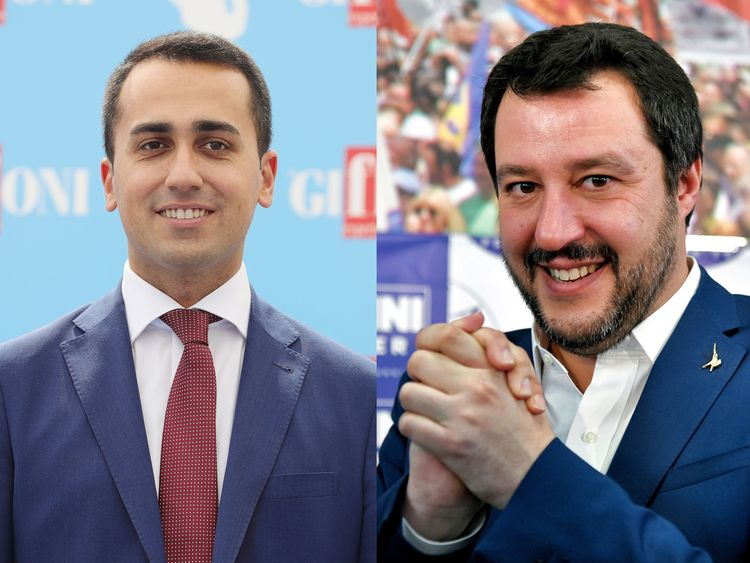 Luigi Di Maio, left, and Matteo Salvini say 'conditions have been met'