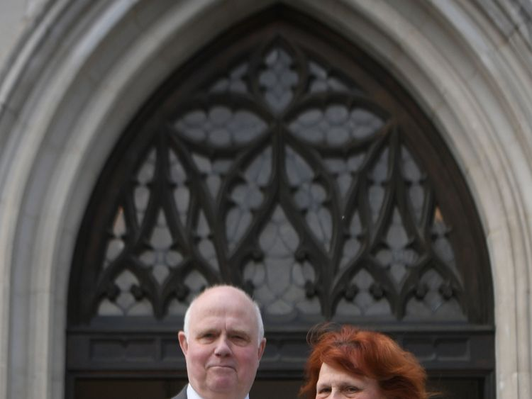 Barry and Margaret Mizen at the tenth anniversary memorial service for Jimmy Mizen