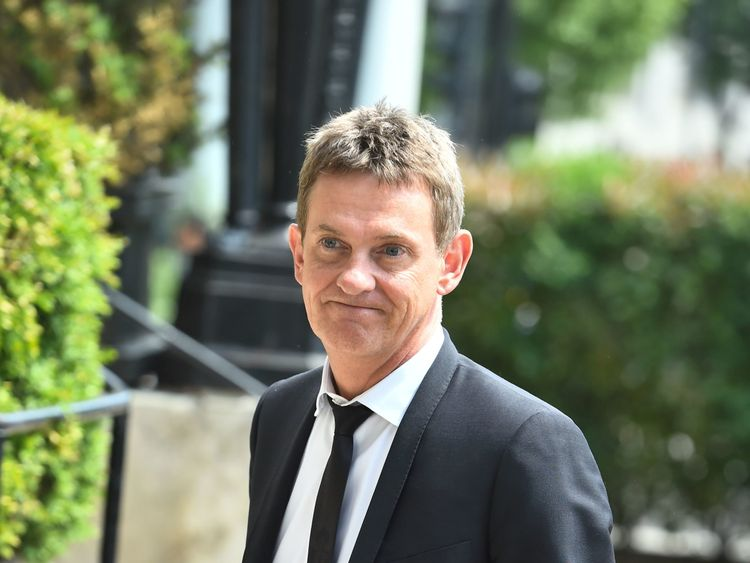 Matthew Wright arrives to pay respects