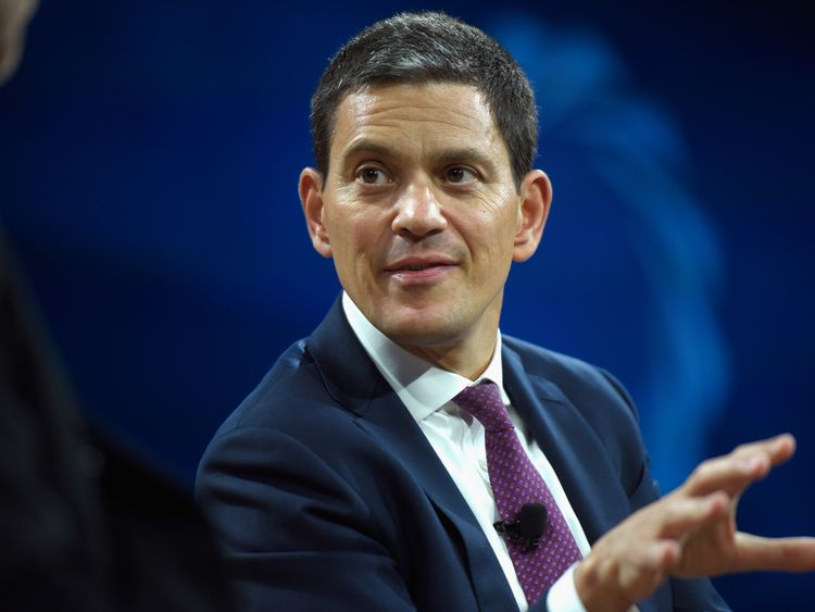 David Miliband speaks at The 2017 Concordia Annual Summit at Grand Hyatt New York on September 19, 2017 in New York City.