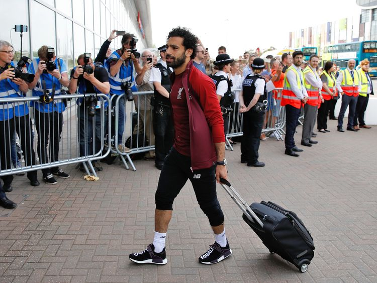 Europe's top goalscorer Mo Salah was on the plane to Kiev as the club embarked on the last leg of its European adventure