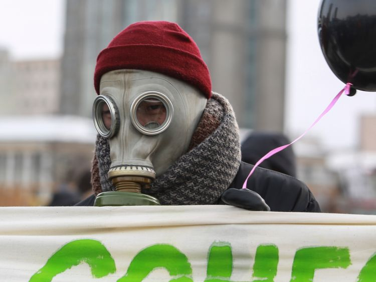 There have been demonstrations in Ulaanbaatar because of the pollution