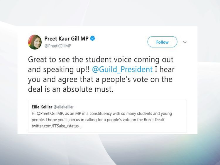 Labour frontbencher clarifies new referendum call