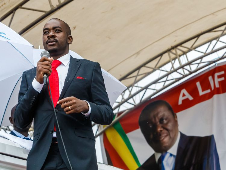 Acting president of the Movement for Democratic Change (MDC) party, Nelson Chamisa