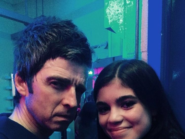 Molly Moorish with uncle Noel Gallagher in a photo published by her mum on Instagram in June 2017