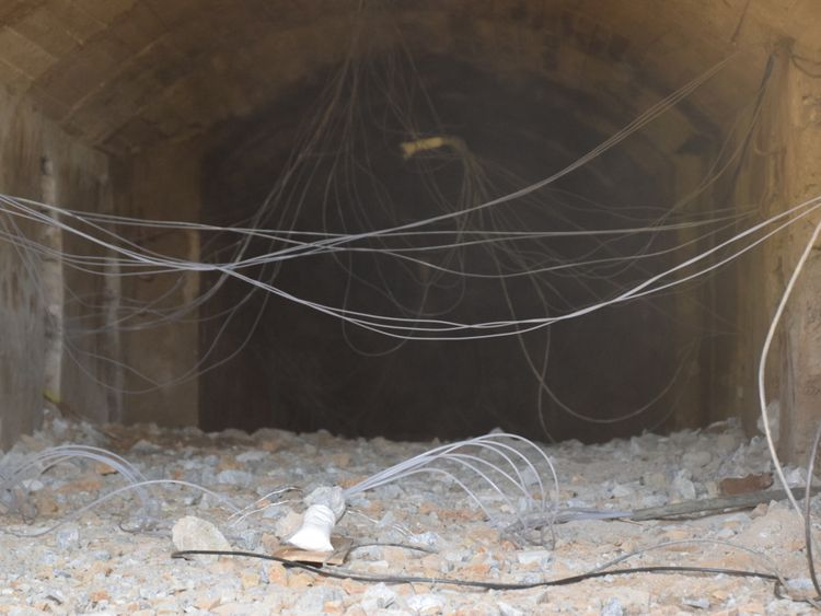 North Korean officials showed journalists the tunnels before they were blown