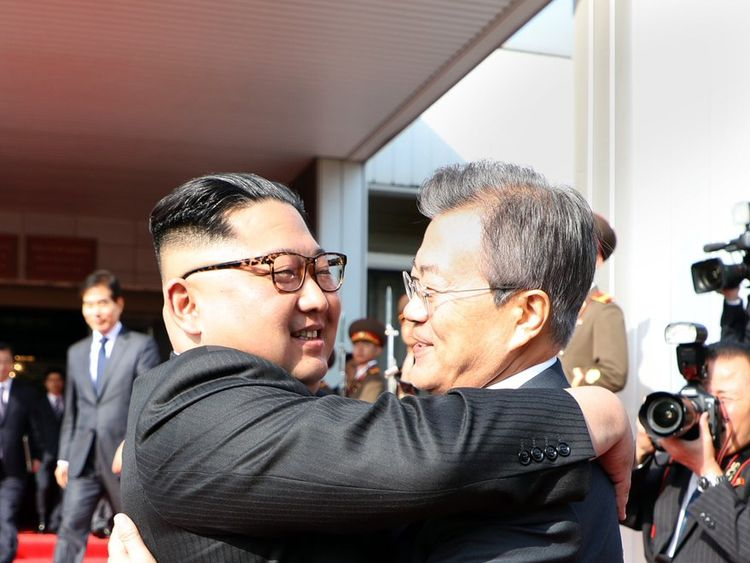 North and South Korea leaders meet following a whirlwind 24-hours