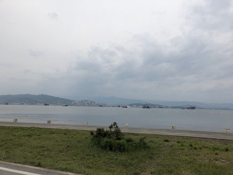 The view of Wonsan from the new airport. Pic: Tom Cheshire