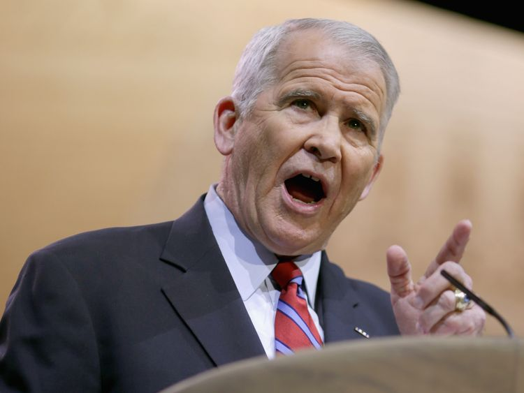 Oliver North has become a hero of the right