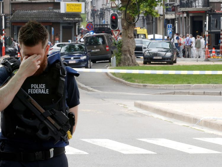 Police officer in Liege