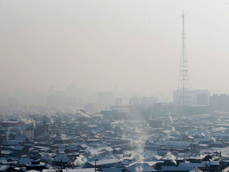Ulaanbaatar was the most polluted city in the world in 2016