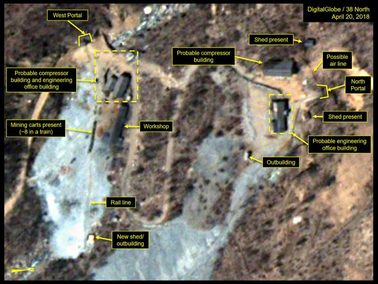 Punggye-ri nuclear test site in North Korea