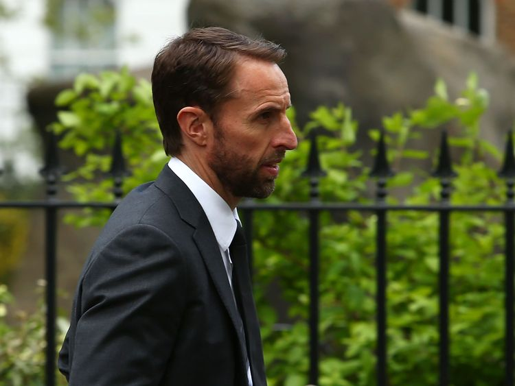 England Manager, Gareth Southgate arrives ahead of the memorial