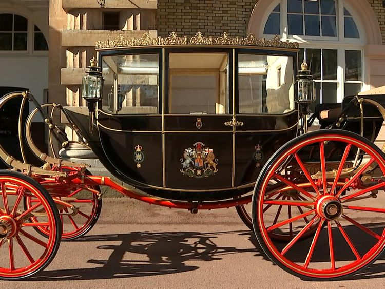 One of the carriages that could be used on the royal wedding day
