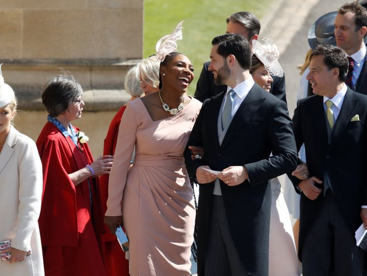 US tennis player Serena Williams and her husband US entrepreneur Alexis Ohanian