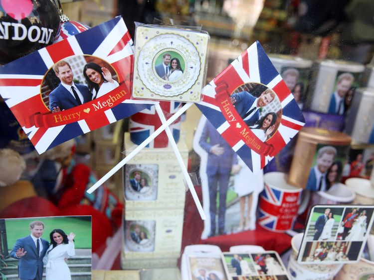 Shops in Windsor have been stocking up ahead of Saturday's ceremony