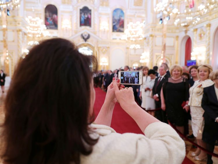 Guests gather before a ceremony to inaugurate Vladimir Putin as President of Russia at the Kremlin in Moscow, Russia May 7, 2018. Sputnik/Mikhail Klimentyev/Kremlin via REUTERS ATTENTION EDITORS - THIS IMAGE WAS PROVIDED BY A THIRD PARTY.