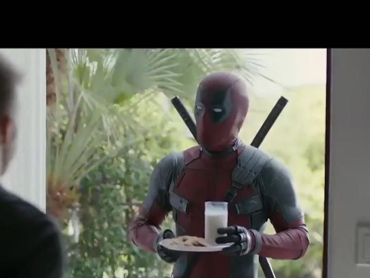 Deadpool tried to apologise to David Beckham with milk and cookies