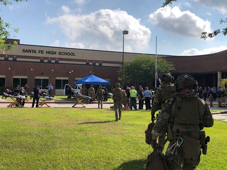 Shooting at Santa Fe High School, Texas. Pic: Harris County sheriff department