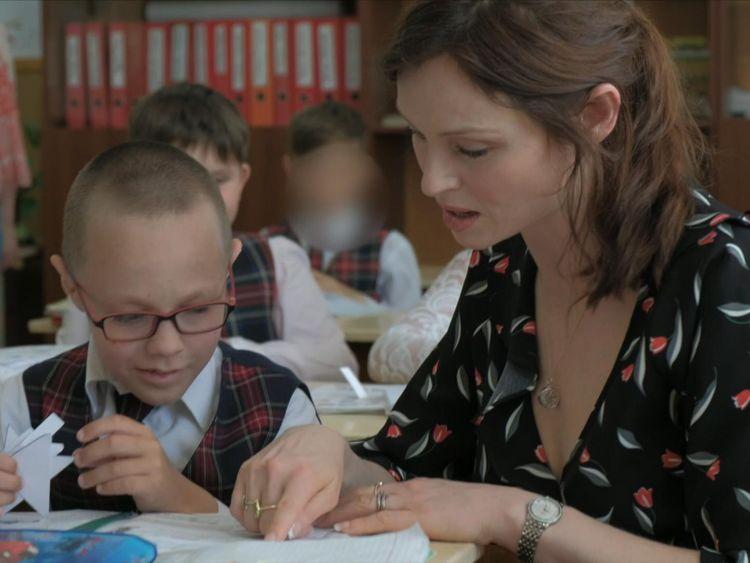 Sophie Ellis-Bextor visits an orphanage in Ukraine