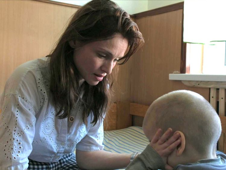 Sophie Ellis Bextor visits an orphanage in Ukraine