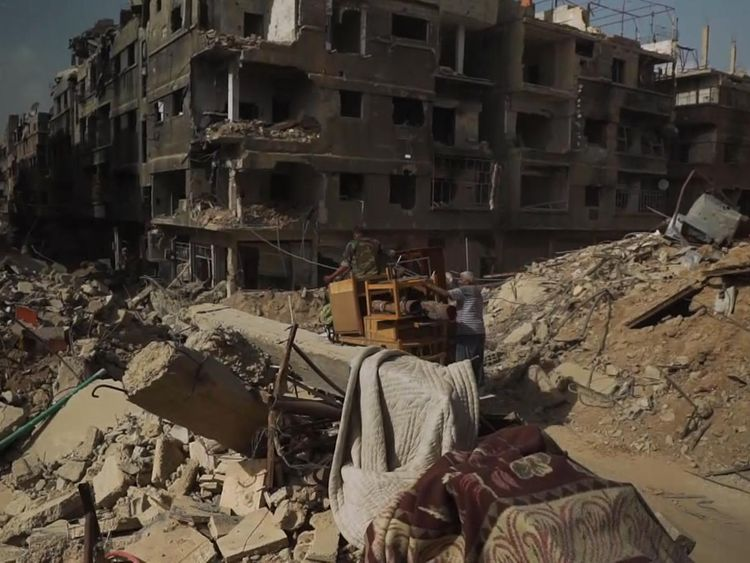 The city has been left in ruins after ISIS were removed