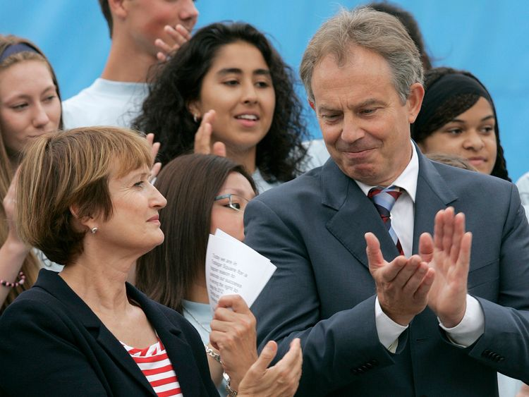 Tony Blair with Tessa Jowell in 2006