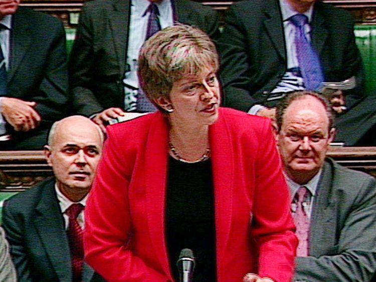Theresa May in 2001