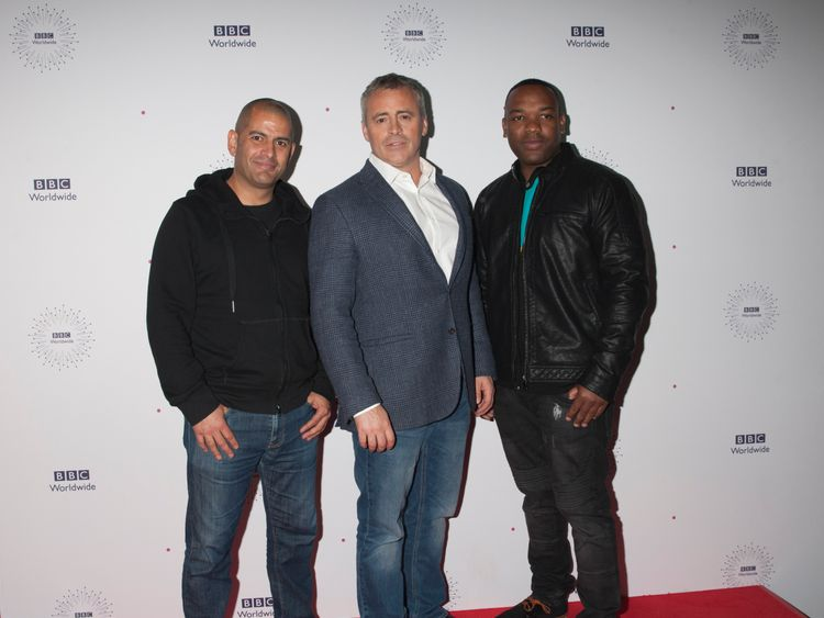 Matt LeBlanc and Top Gear cohosts Chris Harris and Rory Reid