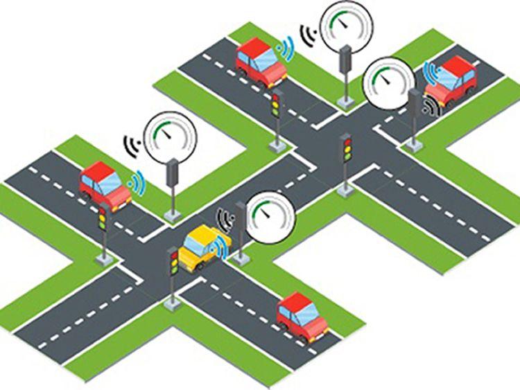 Smart traffic lights could cut car emissions