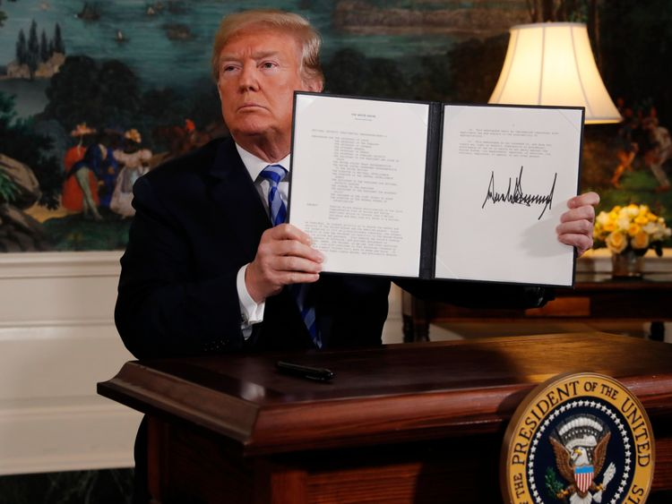 Allies dismayed as Trump pulls US out of Iran deal