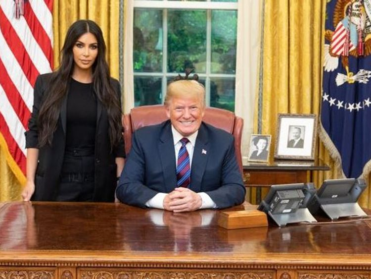Trump frees woman after Kardashian intervention
