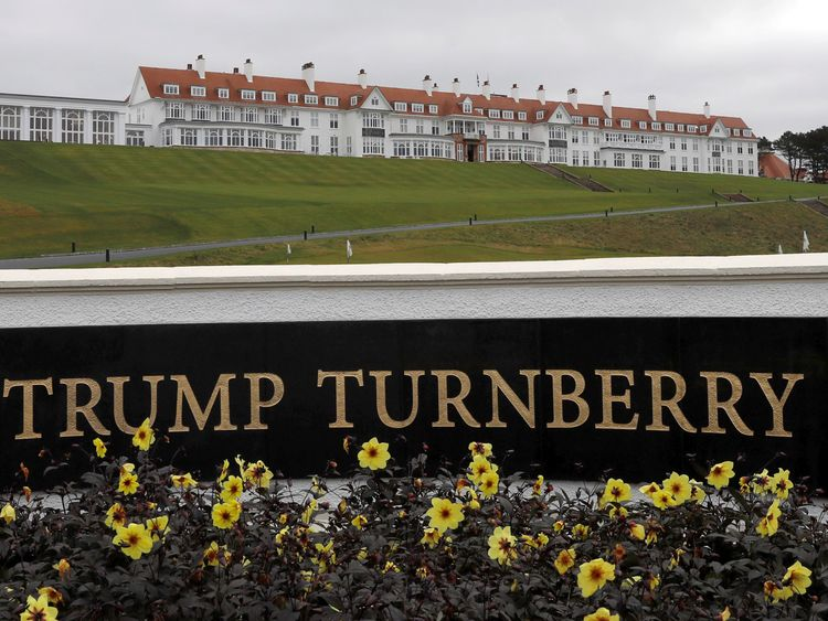 Donald's Trump's Turnberry hotel, which is on the Ayrshire coast