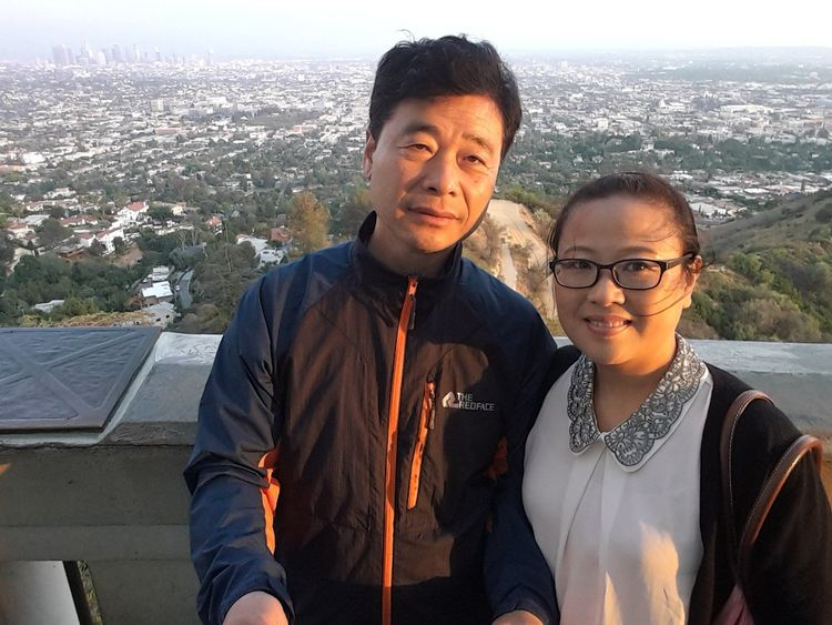 Kim Hak-song with his wife