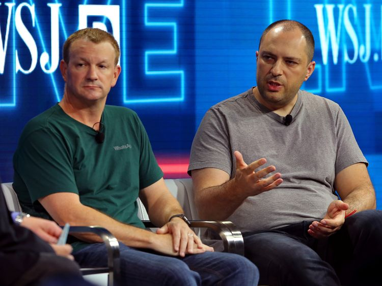 Brian Acton (L) left WhatsApp in 2017 and Jan Koum (R) is set to leave