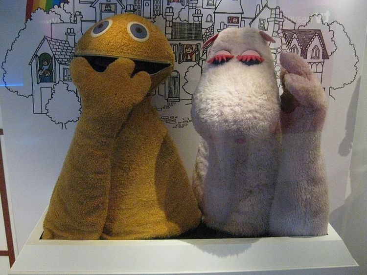 Zippy and George from Rainbow, on display at the National Media Museum in Bradford