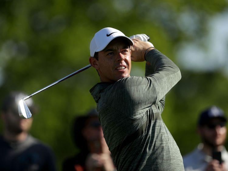 Rory McIlroy during the Pro-Am for the Wells Fargo Championship at Quail Hollow Club on May 2, 2018 in Charlotte, North Carolina.